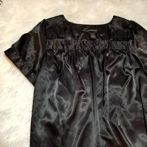 Lane Bryant Satin Black Blouse 18/20